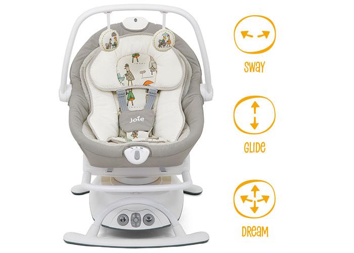 leżaczek sansa 2w1 dla dzieci joie baby